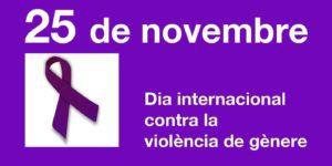 Arribada de la Manifestació contra la violència de gènere