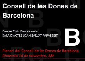 Reunions del Consell de les Dones de Barcelona