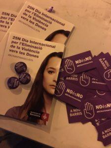 Dia internacional de la no violència vers les dones. NOU BARRIS