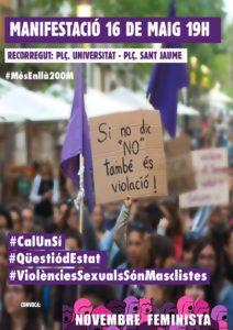 Manifestació feminista 16M