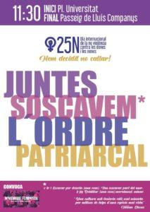Dia internacional de la no violència vers les dones 2018