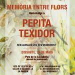 Memòria entre flors. Homenatge a Pepita Texidor.