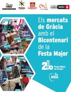 Els mercats de Gràcia amb el bicentenari de la Festa Major.
